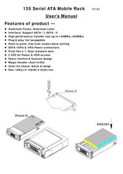 """Fantec SNT-135SATA-1 3.5"""" SATA HDD Mobile Rack Black 2011 Leaflet"""