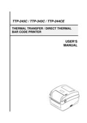 The Speaker Company tSc Printer TTP-245C User Manual
