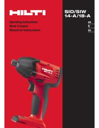 Hilti SID/SIW 14-A/18-A User Manual