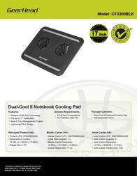 Gear Head CF3300BLK Specification Sheet