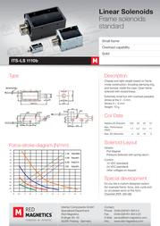 Intertec ITS-LS1110B-D-12VDC, 0.18 N - 2 N electromagnet, 12 Vdc 1.1 W M3 ITS-LS1110B-D-12VDC Data Sheet