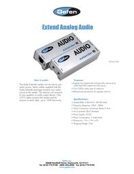 Gefen EXT-AUD-1000 Leaflet