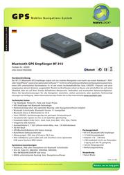 Navilock BT-315 Bluetooth Empfaenger 60300 Leaflet