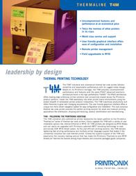 Printronix T4M TT4M3-0200-00 Leaflet