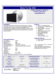 Iomagic DataToGo 120GB I120HD25TG Leaflet