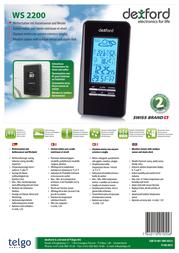 Dexford WS 2200 WS2200 Leaflet
