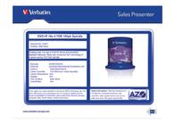 Verbatim DVD+R Matt Silver 43551 Leaflet