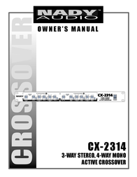 Nady Systems CX-2314 User Manual