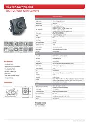 Hikvision Digital Technology DS-2CC51A7P-DG1 Leaflet