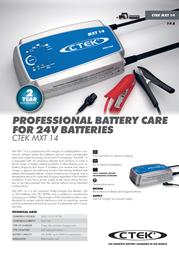 Ctek MXT 14 56-734 Leaflet