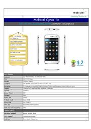 Mobistel T5 MT-9201W Leaflet
