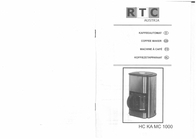 Rtc Coffee maker Stainless steel, Black Cup volume=15 Plate warmer HC KA MC1 User Manual