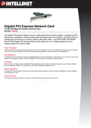Intellinet Gigabit PCI Express Network Card 522533 User Manual