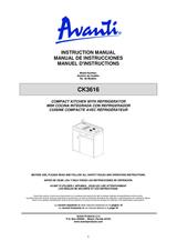 Avanti CK3616 Manual Do Proprietário