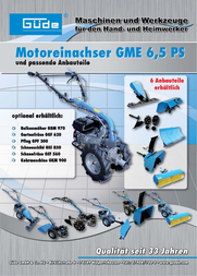 Güde GARTENFRÄSE GGF 620 ZU 95180 95183 User Manual
