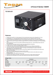 Tagan TG1300-U33 Leaflet
