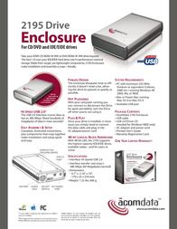 Acomdata 2195 Dual-Use Enclosure DVEXXU2E Leaflet