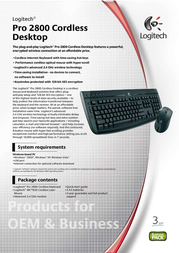Labtec Pro 2800 Cordless Desktop, EN 920-001181 Leaflet