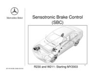 Mercedes Benz Sensotronic Brake Control R230 User Manual