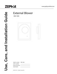 Zephyr CBE-1000 User Manual