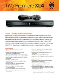 TiVo Premiere 4 TCD750500 Leaflet