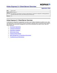 Kofax Express 3.1 KX-MS00-0001 User Manual