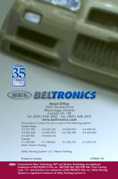 Beltronics Vector 940 and Vector 960 Owner's Manual