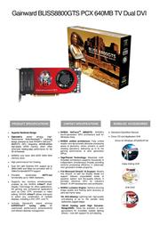Gainward BP8800GTS-640-DD 471846200-8279 Leaflet
