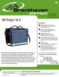 Brenthaven Edge II Jet Black Sleeve 2292101 Leaflet
