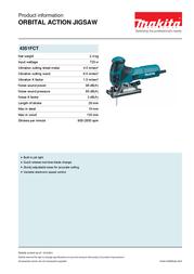 Makita 4351FCT 4351 FCT Leaflet
