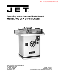 "Jet 756151 wh-45t - 45"" english wheel User Guide"