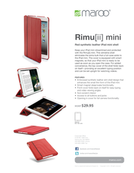 Maroo RIMU[ii] mini MII-121 Leaflet