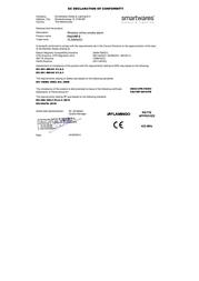 Flamingo Wireless smoke detector network-compatible 10.000.99 battery-powered 10.000.99 Declaration Of Conformity