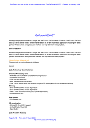 Zotac GeForce 8600 GT 256Mb DVI Active ZT-86TEQ2P-FSL Leaflet