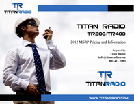 Titan Radio TR400U User Manual