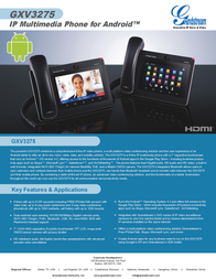 Grandstream cord-connected VoIP-telephone GXV3275 Data Sheet