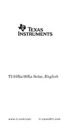 Texas Instruments TI-30 ECO RS Data Sheet