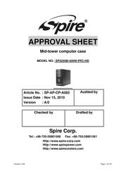 Spire Panther SP3205B-420W-PFC-1 User Manual