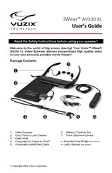Vuzix iWear AV230 XL User Manual