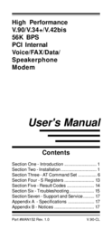 MAXTECH PCI Internal Voice/FAX/Data/Speakerphone Modem User Manual
