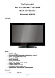 Saga SZTV-22LEDG5 User Manual