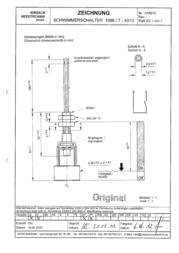 Binsack 16913 1068/7-A013 16913 Data Sheet