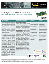 Pacific Digital Serial ATA-II RAID - 3G Controller U-30277 Leaflet