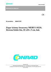 Mebus Classic Quartz Beech Wall Clock 18220 Data Sheet