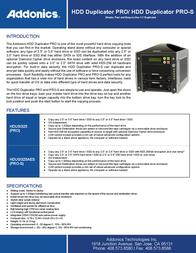 Addonics HDD Duplicator Pro HDUSI325 Leaflet
