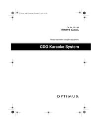 Optimus CDG User Manual