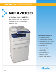 Muratec MFX-1330 Specification Guide