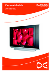 """Daewoo DTT-3250 - 32"""" Real Flat Widescreen TV DTT3250100D Leaflet"""