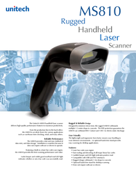 Unitech MS810-U Leaflet