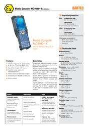 Bartec MC 9090ex-K 17-A119-0KA0HCEFA600 Leaflet